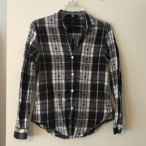 American Eagle women's flannel button up